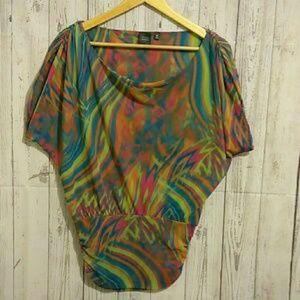 🍒Saks fifth avenue🍒 Tie Dye sheer bodycon top